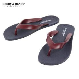 ヘンリーアンドヘンリー HENRY&HENRY 正規販売店 サンダル フリッパー FRIPPER SANDAL NAVY / WINE 28/18