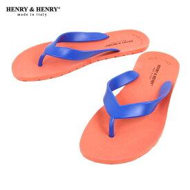 ヘンリーアンドヘンリー HENRY&HENRY 正規販売店 サンダル フリッパー FRIPPER SANDAL ORANGE/BLUE 1/50