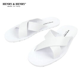 ヘンリーアンドヘンリー HENRY&HENRY 正規販売店 サンダル CROSS SANDAL WHITE 31