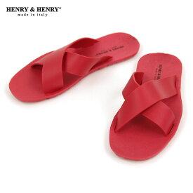 ヘンリーアンドヘンリー HENRY&HENRY 正規販売店 サンダル クロス CROSS SANDAL ROSSO 55