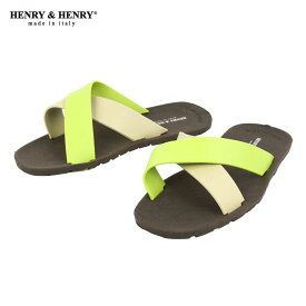 ヘンリーアンドヘンリー HENRY&HENRY 正規販売店 サンダル CROSS SANDAL MARRON / BEIGE / LIME 29/23/7