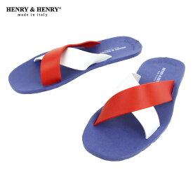 ヘンリーアンドヘンリー HENRY&HENRY 正規販売店 サンダル CROSS SANDAL ROYAL / WHITE / RED 22/31/17