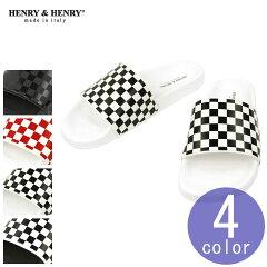 ヘンリーアンドヘンリーHENRY&HENRY正規販売店サンダルメンズレディースシャワーサンダル180CHECKERSHOWERSANDAL