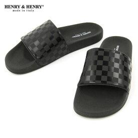 ヘンリーアンドヘンリー HENRY&HENRY 正規販売店 サンダル シャワーサンダル 180 CHECKER SHOWER SANDAL BLACK CHECKER BLACK SOLE