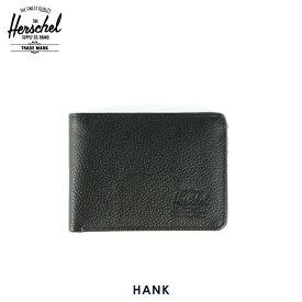 【販売期間 6/4 10:00〜6/11 09:59】 ハーシェル 財布 正規販売店 Herschel Supply ハーシェルサプライ ウォレット 財布 10049-00004-OS Hank Pebble Leather 父の日