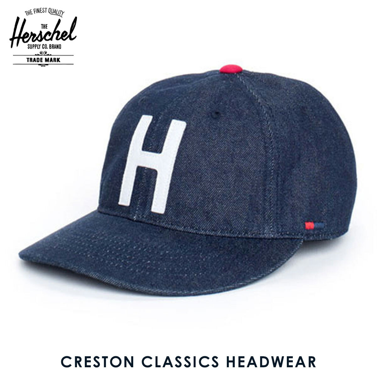 【20%OFFセール 8/17 10:00〜8/23 9:59】 ハーシェル サプライ Herschel Supply 正規販売店 キャップ Creston M/L Classics Headwear 1023-0031-ML Selvedge Denim