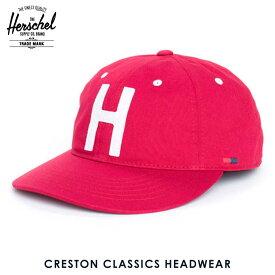 ハーシェル キャップ 正規販売店 Herschel Supply ハーシェルサプライ 帽子 Creston M/L Classics Headwear 1023-0024-ML Red