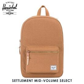 ハーシェル バッグ 正規販売店 Herschel Supply ハーシャルサプライ バッグ リュックサック Settlement Mid-Volume Select 10033-00742-OS Caramel