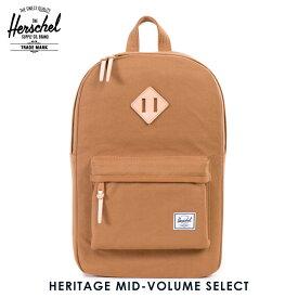 ハーシェル バッグ 正規販売店 Herschel Supply ハーシャルサプライ バッグ リュックサック Heritage Mid-Volume Select 10019-00742-OS Caramel