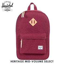 ハーシェル バッグ 正規販売店 Herschel Supply ハーシャルサプライ バッグ リュックサック Heritage Mid-Volume Select