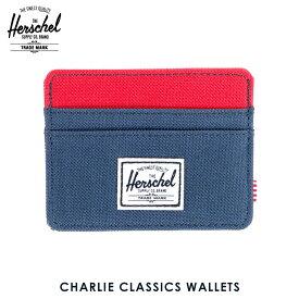 【ポイント10倍 8/22 10:00〜8/24 23:59まで】 ハーシェル カードケース 正規販売店 Herschel Supply ハーシェルサプライ Charlie Classics Wallets 10045-00018-OS Navy/Red D00S20