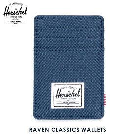 【販売期間 8/21 10:00〜8/26 09:59】 ハーシェル カードケース 正規販売店 Herschel Supply ハーシェルサプライ Raven Classics Wallets 10048-00007-OS Navy D15S25