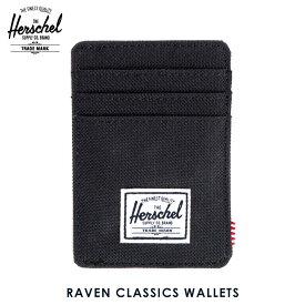 【ポイント10倍 8/22 10:00〜8/24 23:59まで】 ハーシェル カードケース 正規販売店 Herschel Supply ハーシェルサプライ Raven Classics Wallets 10048-00001-OS Black D15S25