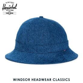 【販売期間 2/29 10:00〜3/2 09:59】 ハーシェル ハット 正規販売店 Herschel Supply ハーシャルサプライ 帽子 Windsor HEADWEAR CLASSICS 1029-0083-OS Mid Wash Denim