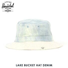 ハーシェル キャップ 正規販売店 Herschel Supply ハーシャルサプライ LAKE BUCKET HAT DENIM 1076-0403-SM BLEACHED DENIM/SDEDE D00S15