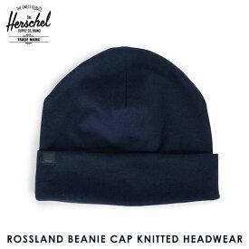 ハーシェル キャップ 正規販売店 Herschel Supply ハーシャルサプライ ニットキャップ ROSSLAND BEANIE CAP KNITTED HEADWEAR 1004-0276-OS NAVY