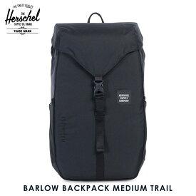 ハーシェル バッグ 正規販売店 Herschel Supply ハーシャルサプライ バッグ BARLOW BACKPACK MEDIUM TRAIL 10270-01174-OS BLACK D00S15