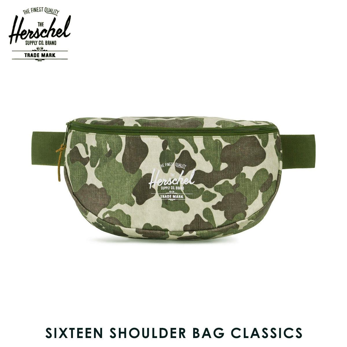 ハーシェル サプライ Herschel Supply 正規販売店 鞄 ショルダーバッグ SIXTEEN SHOULDER BAG CLASSICS | HIP SACKS 10016-01858-OS FROG CAMO