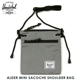 ハーシェル バッグ 正規販売店 Herschel Supply ハーシャルサプライ 鞄 ショルダーバッグ サコッシュ ALDER MINI SACOCHE SHOULDER BAG MN-03-GRY GRAY
