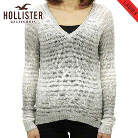 ホリスター セーター レディース 正規品 HOLLISTER Vネックセーター Pacific V Neck Sweater LIGHT GREY D2