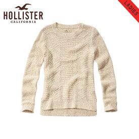 ホリスター セーター レディース 正規品 HOLLISTER Textured-Stitch Crew Sweater 350-507-0575-102 D20S30