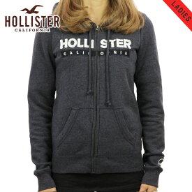 ホリスター パーカー レディース 正規品 HOLLISTER ジップアップパーカー Logo Graphic Full-Zip Hoodie 352-524-295-200