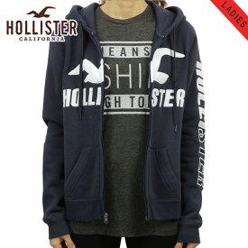 ホリスター HOLLISTER 正規品 レディース ロゴ ジップアップパーカー Logo Graphic Full-Zip Hoodie 352-524-0371-100