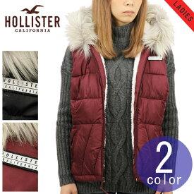 ホリスター アウター レディース 正規品 HOLLISTER ジャケット ダウン風パファーベスト Sherpa-Lined Hooded Puffer Vest