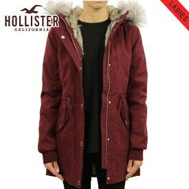 ホリスター アウター レディース 正規品 HOLLISTER ジャケット フードロングコート Stretch Faux-Fur-Lined Parka 344-445-0675-900