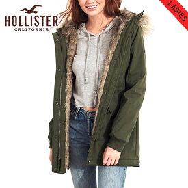 ホリスター アウター レディース 正規品 HOLLISTER ジャケット フードロングコート Stretch Faux-Fur-Lined Parka 344-445-0674-330