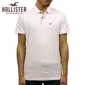 ホリスター HOLLISTER 正規品 メンズ スリムフィット ワンポイントロゴ 半袖ポロシャツ Stretch Shrunken Collar Slim Fit Polo 324-224-0396-600