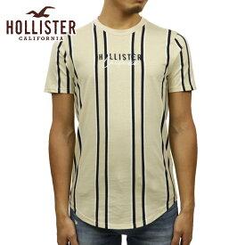 ホリスター Tシャツ メンズ 正規品 HOLLISTER 半袖Tシャツ ストライプ Stripe Logo Graphic Tee 323-243-2544-404