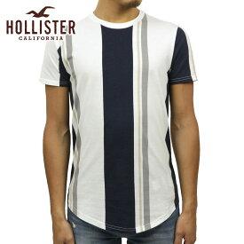 ホリスター Tシャツ メンズ 正規品 HOLLISTER 半袖Tシャツ ストライプ Stripe Crewneck T-Shirt 324-368-0647-106