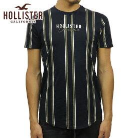 ホリスター Tシャツ メンズ 正規品 HOLLISTER 半袖Tシャツ ストライプ Stripe Logo Graphic Tee 323-243-2544-204