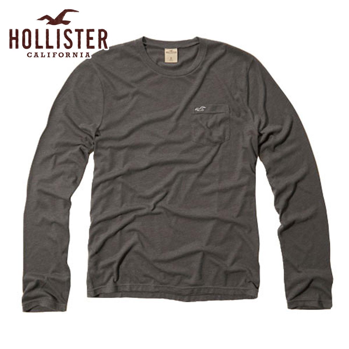 【15%OFFセール 6/26 20:00〜6/30 23:59】 ホリスター HOLLISTER 正規品 メンズ 長袖Tシャツ White Point T-Shirt 324-369-0637-013