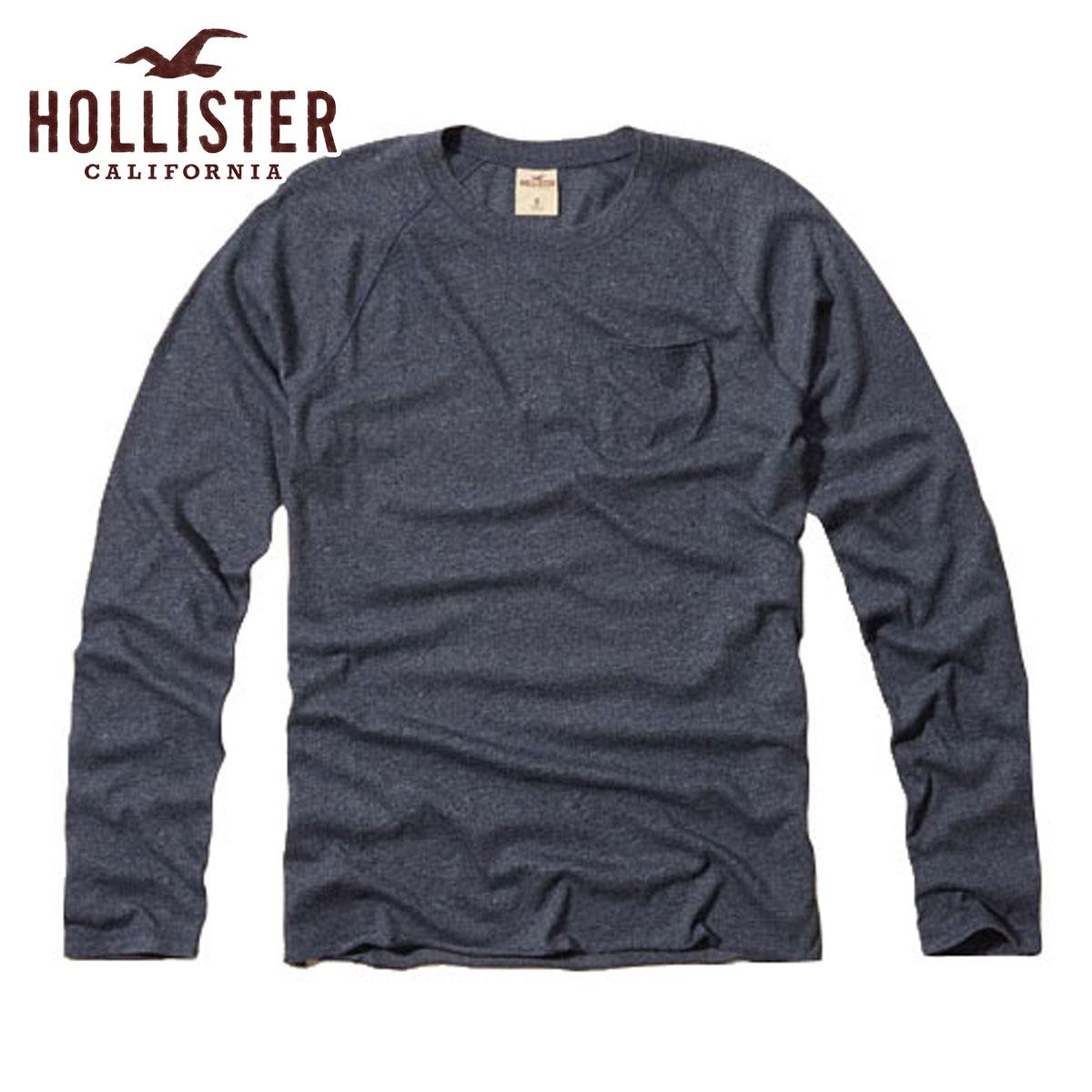 【販売期間 6/21 16:00〜7/2 9:59】 ホリスター HOLLISTER 正規品 メンズ 長袖Tシャツ Fallbrook Pocket T-Shirt 324-369-0558-023