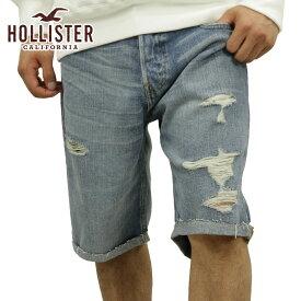 【販売期間 6/11 10:00〜6/20 09:59】 ホリスター HOLLISTER 正規品 メンズ ショートパンツ Classic Fit Denim Shorts Inseam 7 Inche
