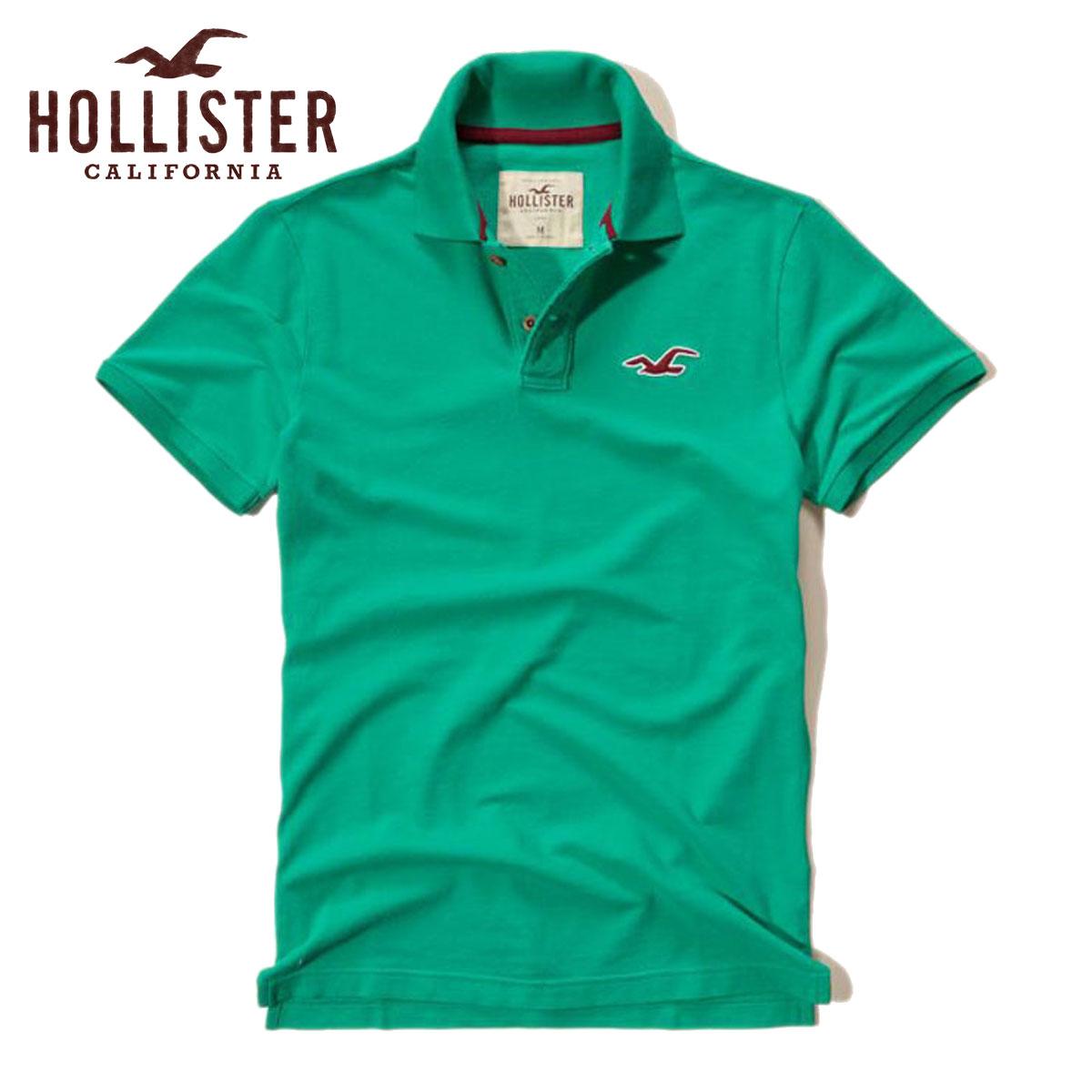 ホリスター HOLLISTER 正規品 メンズ 半袖ポロシャツ 父の日 Contrast Icon Polo SLIM FIT 321-364-0508-300