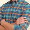 霍利斯特霍利斯特 AE 男式长袖衬衫格子府绸衬衫史诗 Flex 苗条适合 325-259-1584年-308