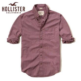 霍利斯特霍利斯特 AE 男式长袖衬衫格子府绸衬衫史诗 Flex 325-253-0256年-528