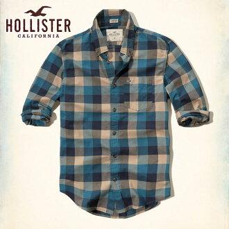 霍利斯特霍利斯特 AE 男式长袖衬衫格子府绸衬衫史诗 Flex 325-259-1612年-808