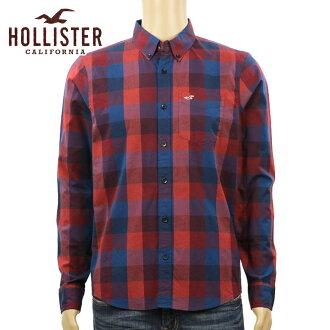 霍利斯特霍利斯特 AE 男式长袖衬衫格子府绸衬衫史诗 Flex 325-253-0256年-529