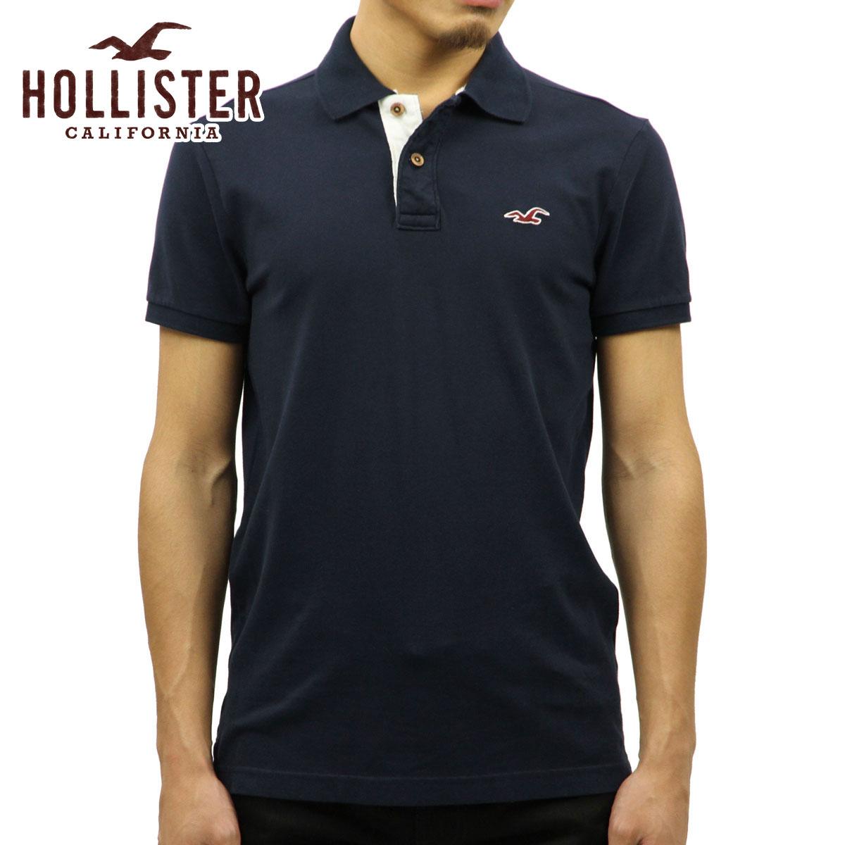 ホリスター HOLLISTER 正規品 メンズ 半袖ポロシャツ 父の日 Stretch Pique Icon Polo 321-364-0602-200