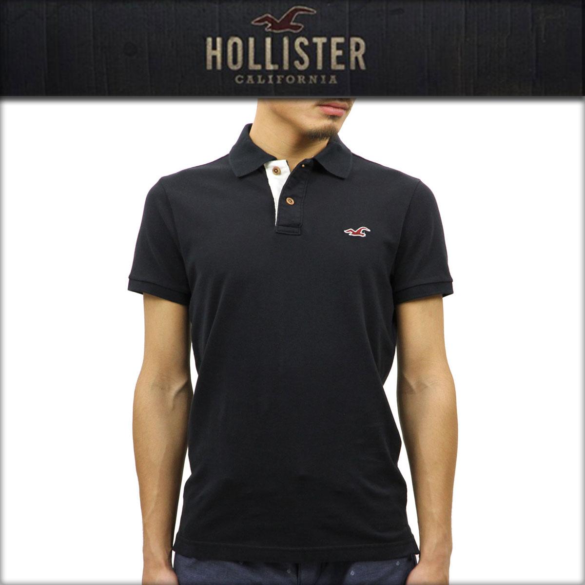 ホリスター HOLLISTER 正規品 メンズ 半袖ポロシャツ 父の日 Stretch Pique Icon Polo 321-364-0602-900