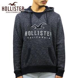 ホリスター スウェット メンズ 正規品 HOLLISTER フリース プルオーバーパーカー Textured Logo Graphic Hoodie 322-226-0034-202