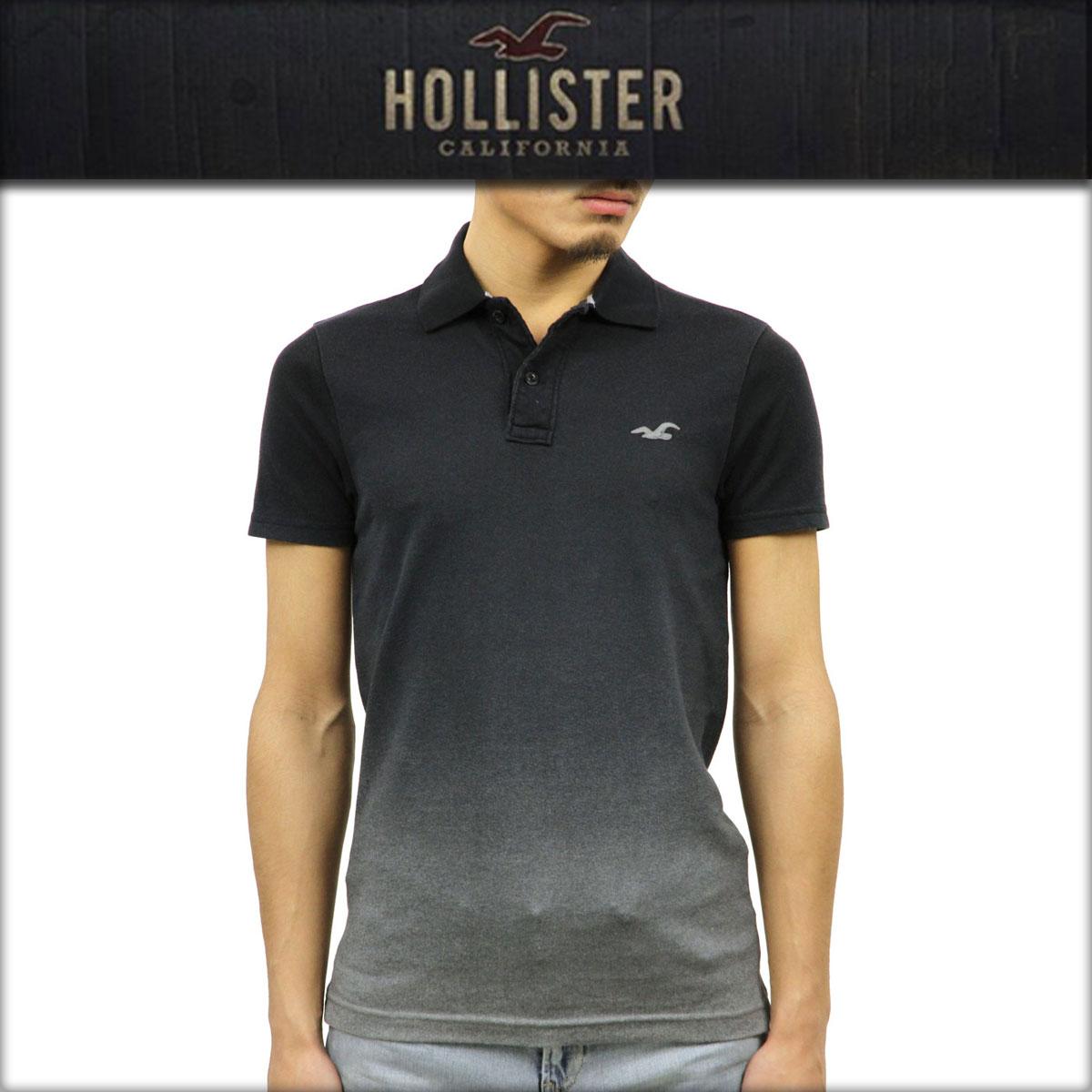 ホリスター HOLLISTER 正規品 メンズ 半袖ポロシャツ 父の日 Stretch Pique Ombre Polo Epic Flex 321-364-0661-906