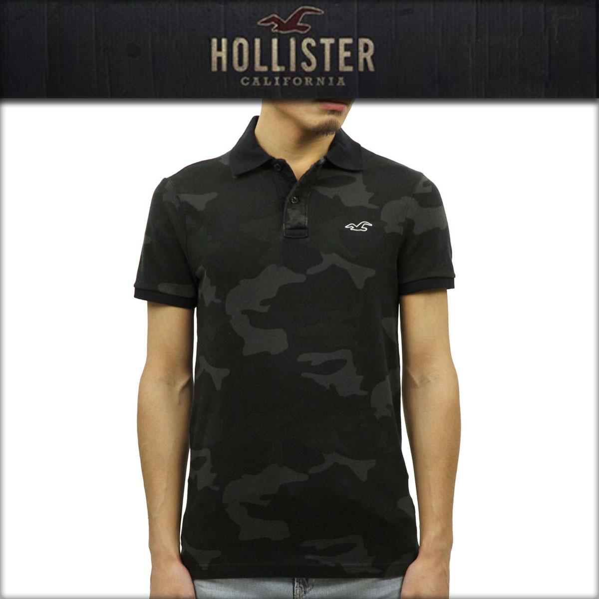 ホリスター HOLLISTER 正規品 メンズ 半袖ポロシャツ 父の日 Stretch Pique Camo Polo Epic Flex 321-364-0659-980