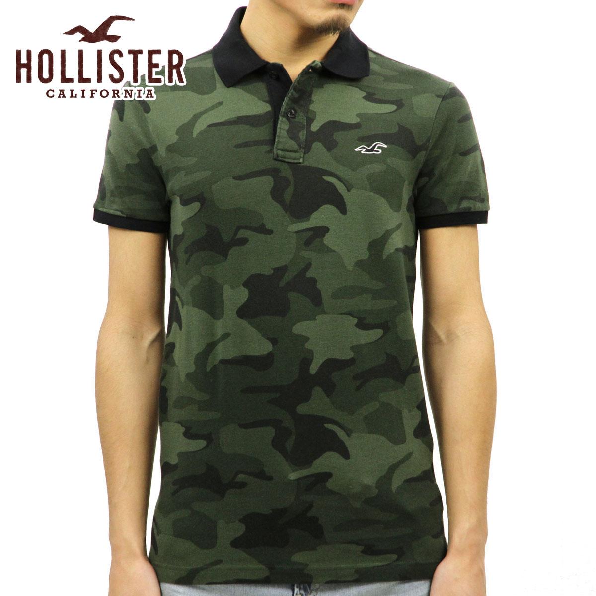 ホリスター HOLLISTER 正規品 メンズ 半袖ポロシャツ 父の日 Stretch Pique Camo Polo Epic Flex 321-364-0659-380