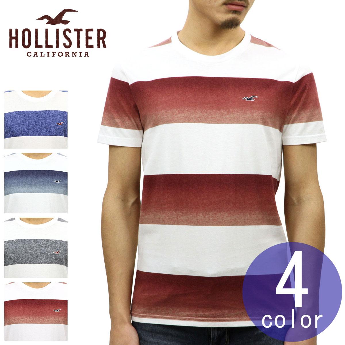 ホリスター HOLLISTER 正規品 メンズ ストライプ柄 半袖Tシャツ Must-Have Crewneck T-Shirt