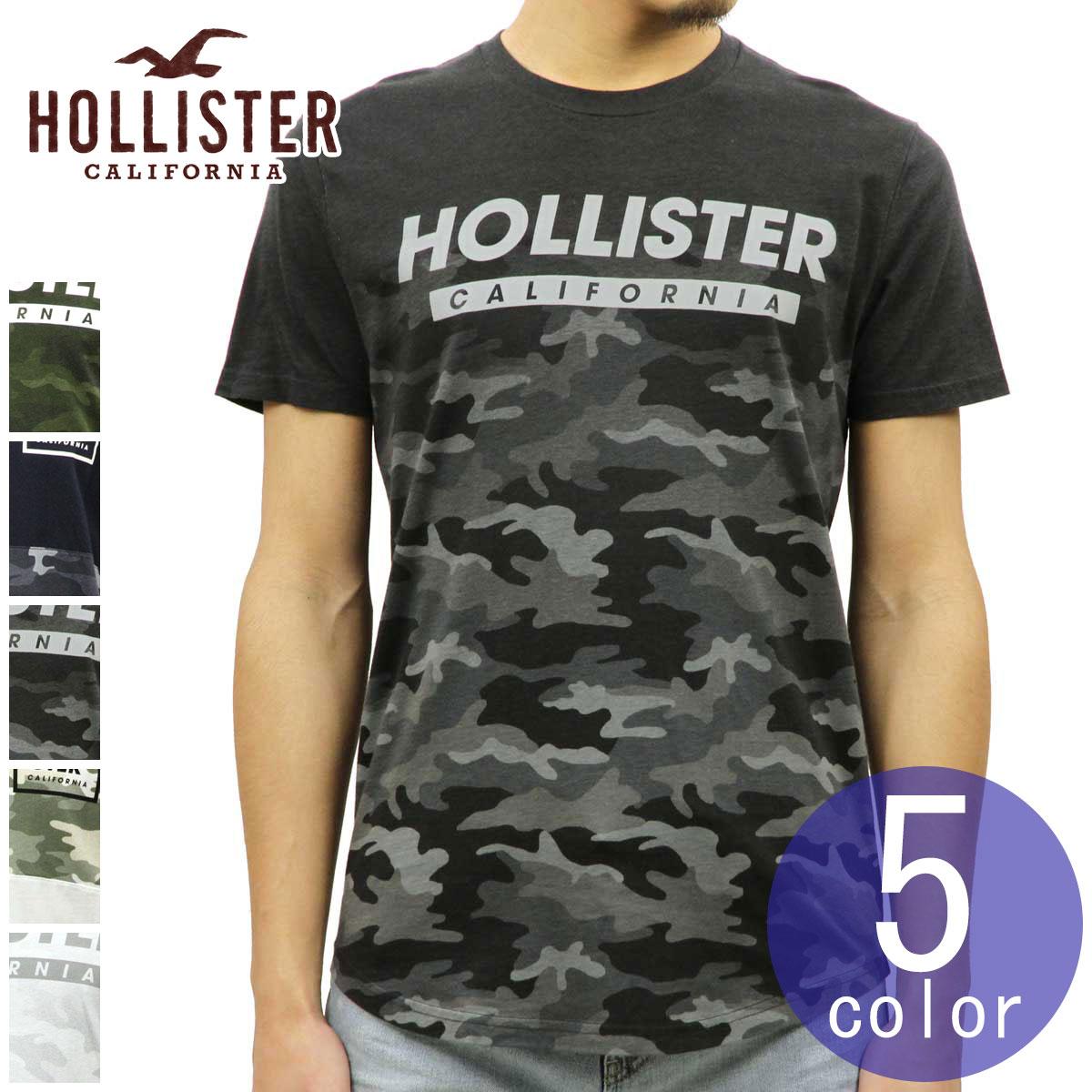ホリスター HOLLISTER 正規品 メンズ クルーネック カーブヘム カモフラージュ 迷彩柄 半袖Tシャツ Camo Graphic Tee